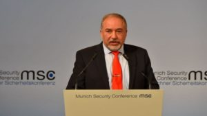 In Munich, Liberman calls for coalition of 'moderates' against Iran