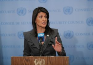 Haley challenges credibility of Palestinian 'right of return'