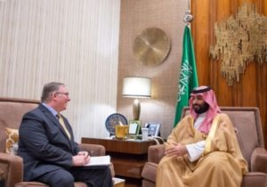 In historic first, Saudi crown prince meets Israeli Evangelical Christians