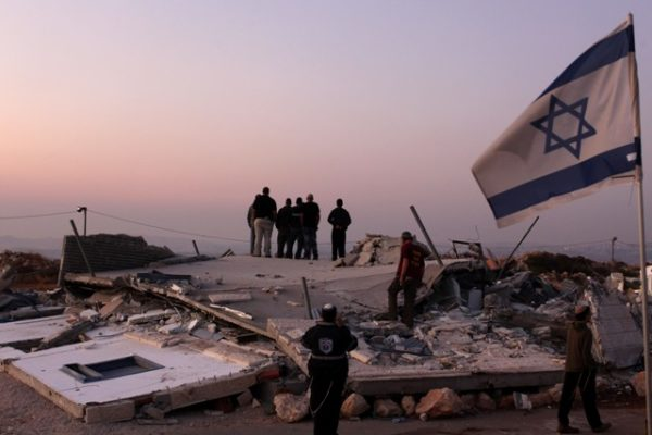 Illegal buildings demolished at two West Bank outposts