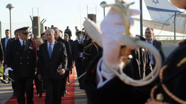 Netanyahu lands in Paris for talks with French president on Iran
