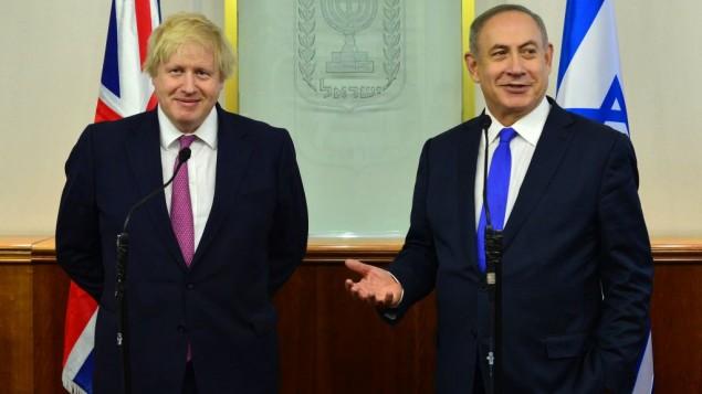 Netanyahu and UK's Boris Johnson spar over settlements