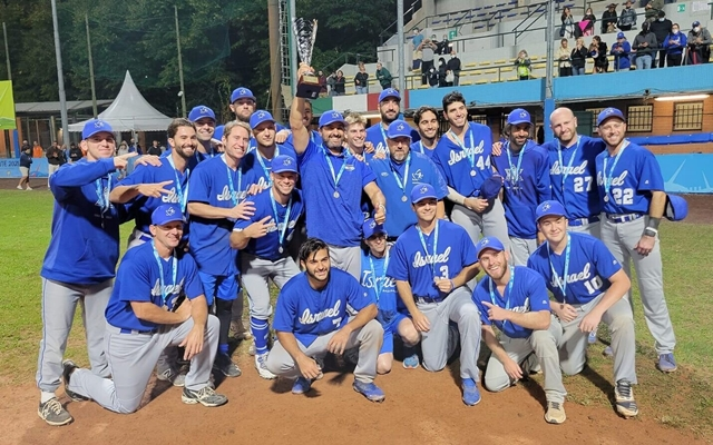 Israel's baseball team wins silver in European Championship, its best result ever